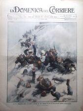 La Domenica del Corriere 8 Marzo 1908 Compagnia Alpini Valanga Nasi Suffragio