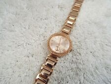 Coppertone Rhinestone Bracelet Watch (B8)