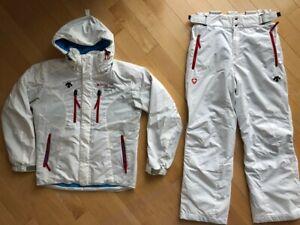 DESCENTE Swiss Ski Team Torino Olympic jacket pants Men S-M Women M-L