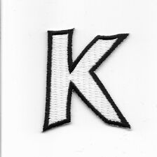 "2"" Letter K Embroidered Iron On Alphabet Patch wx0019"
