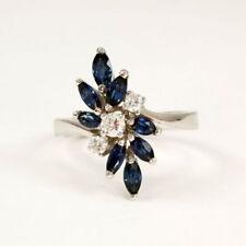Anelli di lusso blu di pietra principale zaffiro Misura anello 18