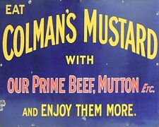 "10 x 8"" COLEMAN'S MUSTARD VINTAGE ADVERT METAL PLAQUE TIN SIGN OTHERS LISTED 630"