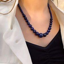 Collier en Perles dégressives Naturelles pierres Lapis Lazuli -  Lithothérapie