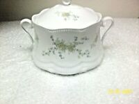 Schirnding Bavaria Porcelain Blue Yellow Floral Soup Tureen made in Germany