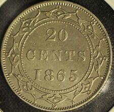 Canada - Newfoundland - 1865 20 Cent - Slight Bend - Buyers Grade -