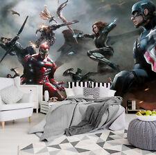PAPIER Fototapete Tapete Marvel Iron Man Captain America Avengers  3FX10903P4