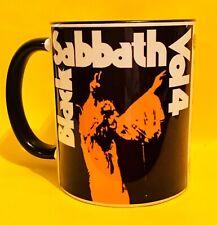 BLACK SABBATH VOLUME 4 1972 ALBUM COVER ON A TWO TONE B&W MUG.