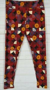 LuLaRoe Women's Leggings Black, Red, Yellow & Blue Size TC New