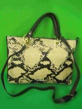 PULICATI ITALY Snake Pattern Calf Hair NEW Large Cross Body Tote