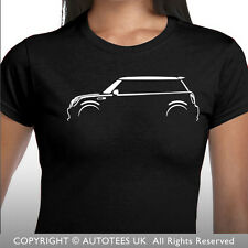AUTOTEES LADIES CAR T-SHIRT - FOR BMW MINI COOPER S ONE ENTHUSIASTS