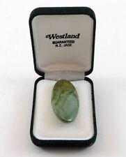Vintage Westland Guaranteed NZ Jade Brooch with Box New Zealand Greenstone Pin
