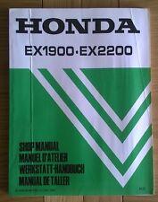 Honda EX1900 EX2200 Shop workshop service manual de taller Manuel D'atelier