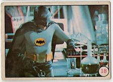1966 BATMAN Color Card #18 – Batman in the Bat Cave Lab - 'Bat Laffs' on back