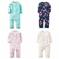 NWT Carters Infant GIRL's Jumpsuits Coveralls Romper Sleep & Play Sizes 3-24 Mo.