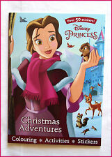 DISNEY PRINCESS CHRISTMAS ADVENTURES  50+ Stickers Colouring Activity BOOK - NEW