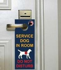 Service Dog Room ID Animal Tags Housekeeper Do Not Disturb Door Hanger Pack of 5