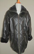 WOMEN'S B.B.DAKOTA BLACK POLYVINYL CHLORIDE ZIPPER COAT SIZE MED