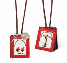 Five Fold 5 Fold Scapular (B3678) Red Blue Black White Brown