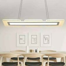 Modern Acrylic LED Dining Room Living Room  Rectangle Hanging Pendant Lamp