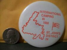 INTERNATIONAL CAMPING IN 1988,BOY SCOUT PIN,NEWFOUNDLAND,CANADA,DISTRICT 24!!