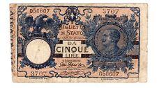 Italie ITALY ITALIA Billet 5 LIRE 1904 P23 Biglietto Di Stato BON ETAT
