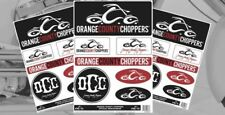 Official Orange County Choppers Sticker Set - Custom Bikes, Harley Davidson