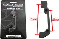 QUAD DISC BRAKE CALIPER MOUNT 51mm / 75mm QAB02 180F / 160R 50% OFF RRP