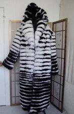 BRAND NEW BLACK WHITE FOX FUR COAT SUIT FOR MEN WOMEN SIZE ALL