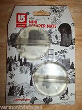 NEW Burton Mini Scraper Mats/ Stomp Pads - 2 Clear - Snowboard Traction mat pad