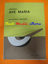 SCHUBERT Ave maria 1979 RARO SPARTITO SINGOLO italy MANDOLINO cd lp dvd mc