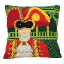 Collection D'Art cross stitch Cushion Kit - Man at Venice Carnival CD5128