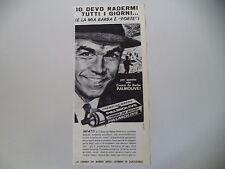advertising Pubblicità 1963 CREMA DA BARBA PALMOLIVE