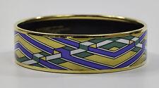 Michaela Frey Enamel Bangle - Bracelet, 19mm Wide, 24Ct Gold Plated