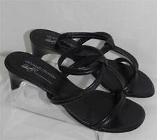 Donald Pliner Vinod Black Leather Sandals 10