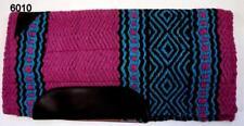 "24"" x 24"" Navajo New Zealand Fleece Pink & Blue Wool Western Pony Saddle Pad"
