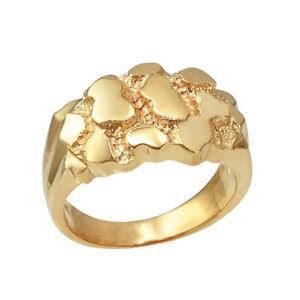 10K Yellow Gold Mens Nugget Ring