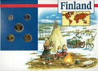 Coins of the World Finland 10,5,1 Markkaa 50,10 Pennia 1994 Brilliant UNC