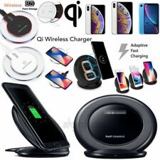 Fast Qi Wireless Charger Stand Dock Pad For Samsung Galaxy S6 S8 S9 Plus Note 8