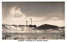 RPPC FALCONBRIDGE MINE Sudbury Nickel City Ontario Canada Mining c1940s Postcard