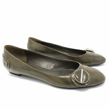 Louis Vuitton Green Patent Leather Flats - Size 36 - Made in Italy