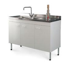 Mobile cucina con lavello acciaio inox 120 x 50 gocciolatoio dx offerta speciale
