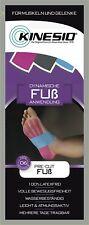 Kinesio® Kinesiology Tape - PreCut Fuß Blau - Pink