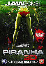 Piranha 3D DVD Elisabeth Shue, Jerry OConnell New Sealed