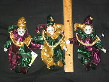 1 Jester Clown Doll- 6 Inch New Orleans Mardi Gras + Free Jester Magnet