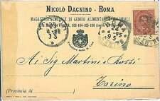 CARTOLINA d'Epoca ROMA città - PUBBLICITARIA: NICOLO DAGNINO 1895