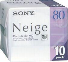 SONY Neige Series MiniDisk 80 Minutes Pack 10 F/S F