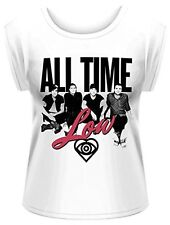 All Time Low Unknown Rolled Sleeve T-Shirt Women Damen Size Größe S PHM