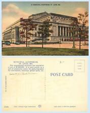 Municipal Auditorum c1940 St Louis Missouri Building Postcard Architecture