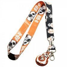 STAR WARS BB8 LANYARD WITH RUBBER  CHARM AND KEY HOLDER