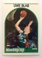 Uwe Blab Hand Signed 1989 Hoops Card Dallas Mavericks